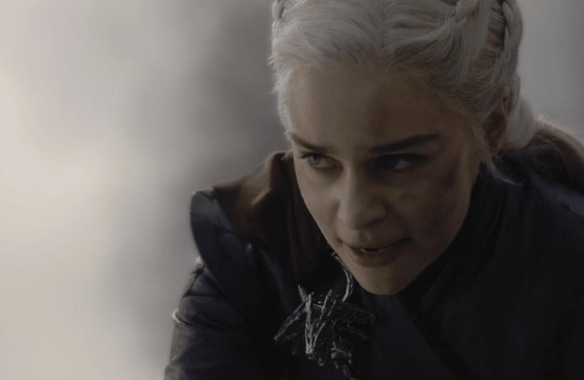 Emilia Clarke nei panni di Daenerys Targaryen in Game of Thrones 8x05