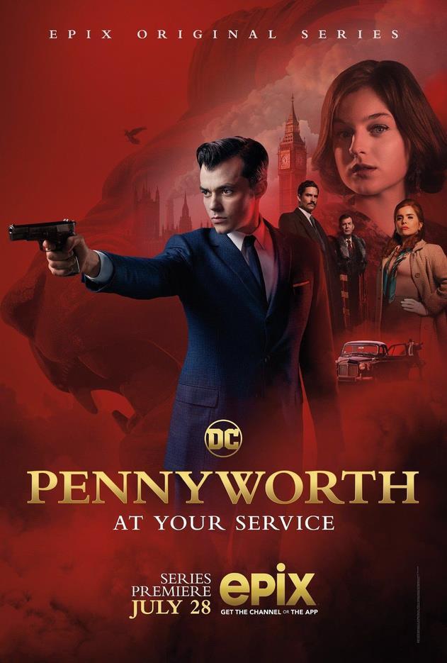 Jack Bannon nel poster di Pennyworth