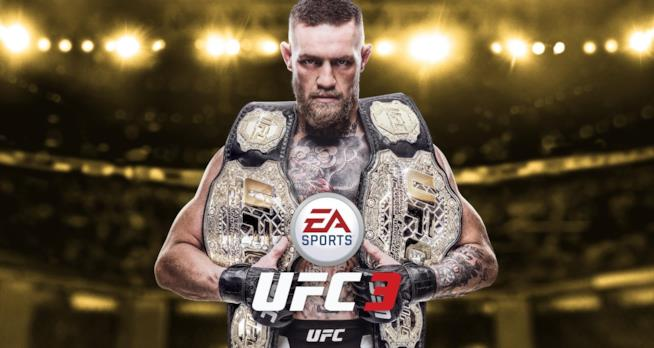 Conor McGregor sulla copertina di EA Sports UFC 3