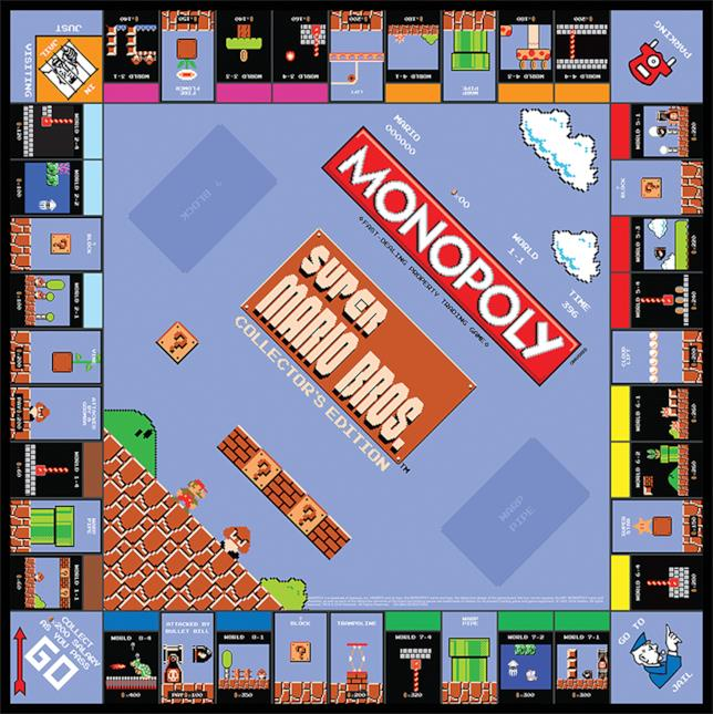 Board nel Monopoly a tema Mario Bros.