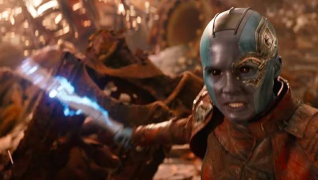 Nebula è pronta all'azione in Infinity War