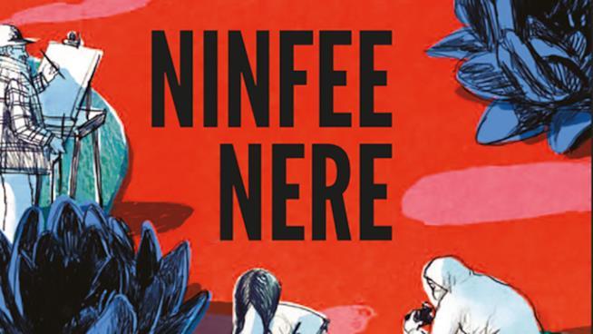 Un dettaglio della copertina di Ninfee Nere
