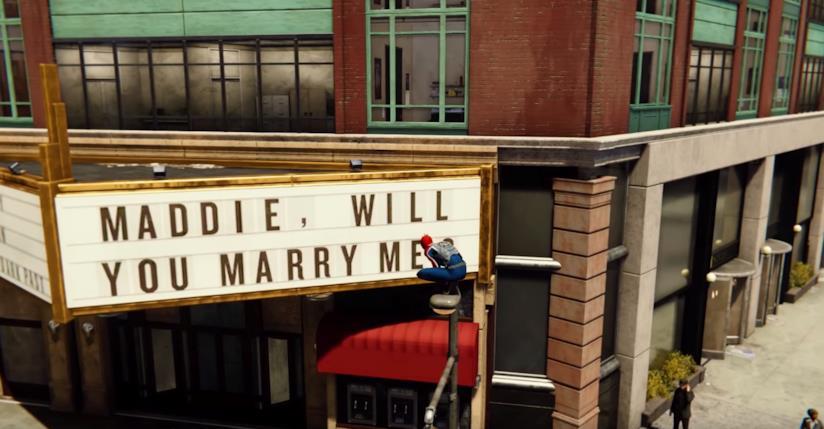 La proposta di matrimonio per Maddie in Spider-Man