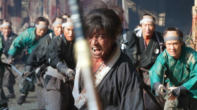 Una scena dal film Blade of the Immortal