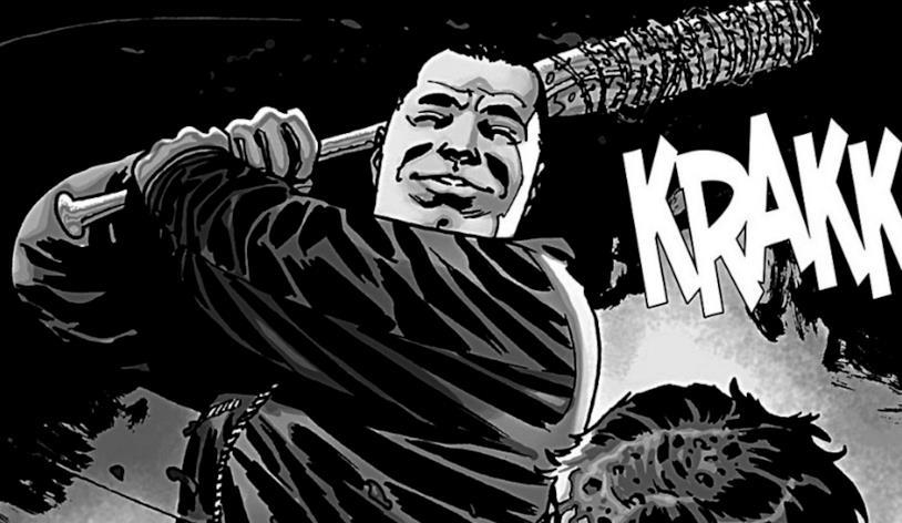 Negan dal fumetto alla serie di The Walking Dead