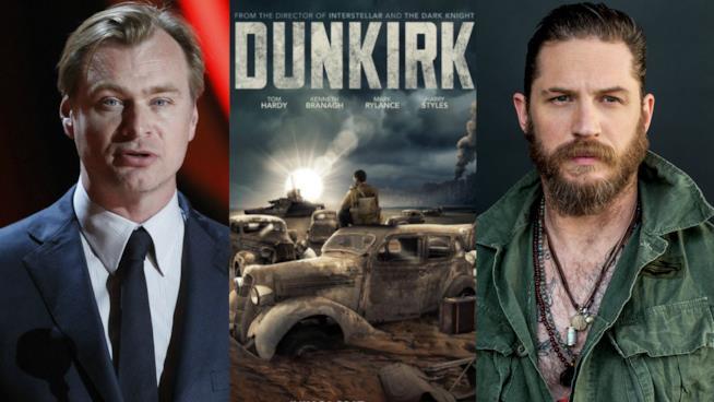Tom Hardy è tra i protagonisti di Dunkirk