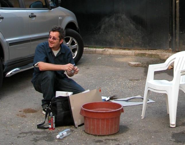 Una possibile fotografia di Banksy