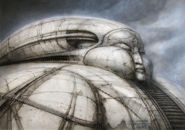 Bozzetto preparatorio di Hans Ruedi Giger per Dune