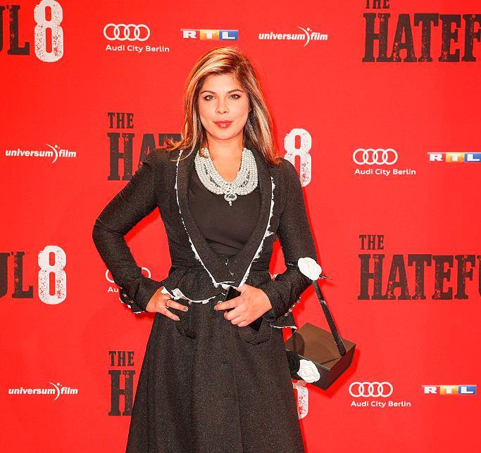 Indira Weiss alla prima di The Hateful Eight
