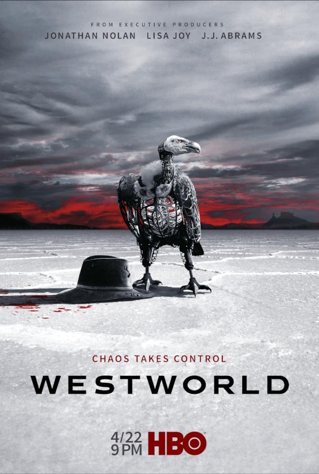 Il chaos prende il controllo nel poster della stagione 2 di Westworld