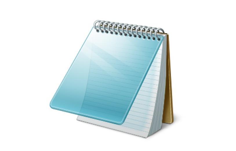 Blocco Note di Microsft: primo piano dell'icona dell'applicazione