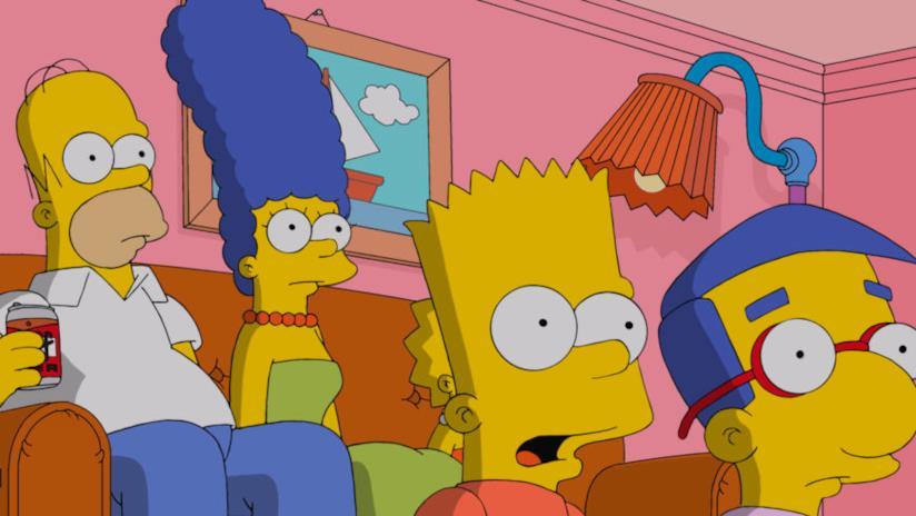 I Simpson davanti alla TV