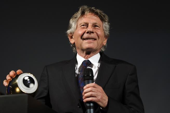 Roman Polanski in una foto recente ritira un premio