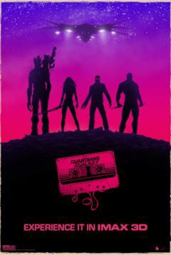I Guardiani della Galassia nella locandina IMAX 3D