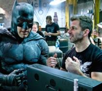 Zack Snyder e Ben Affleck sul set