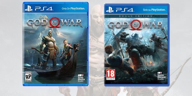 God of War nelle boxart delle sue diverse edizioni