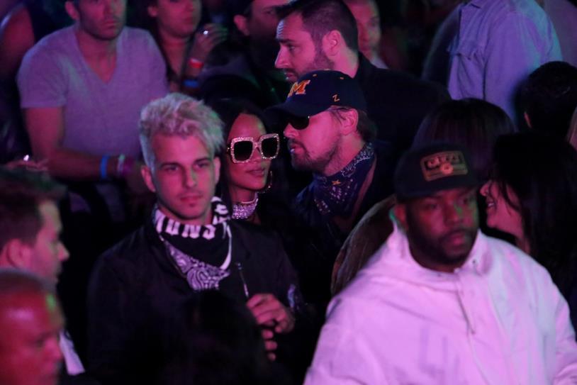 Foto di Rihanna e Leonardo DiCaprio al Coachella