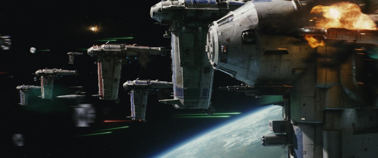 Flotta di navicelle in Star Wars 8