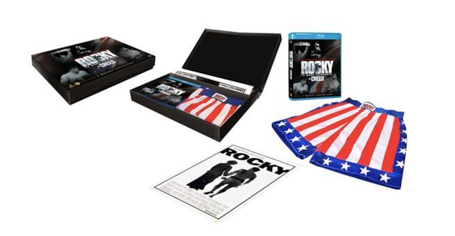 Boxset Rocky con DVD, poster, pantaloncini