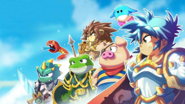 Gli eroi di Monster Boy and the Cursed Kingdom
