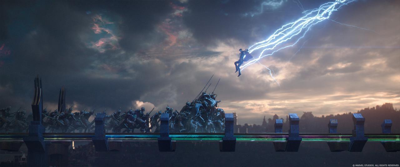 Thor scatena i fulmini contro i nemici