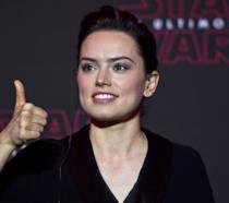 Daisy Ridley durante il tour promozionale de Gli Ultimi Jedi