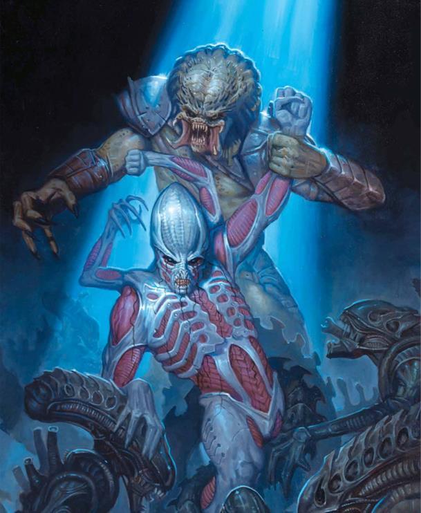 Tavola di Alien - Fire and Stone 2 con Elden, Alieni e Predator