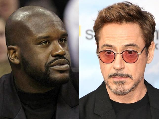 Shaquille O'Neal e Robert Downey Jr. a contronto