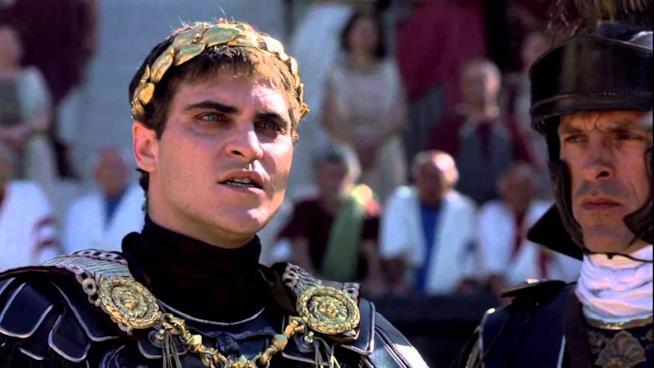 Scena de Il Gladatore, imperatore Commodo
