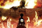 L'attacco dei Giganti Eren e Gigante Colossale