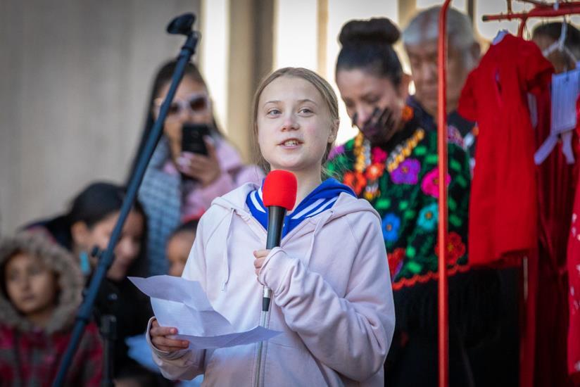 Greta Thunberg, giovane attivitsta svedese