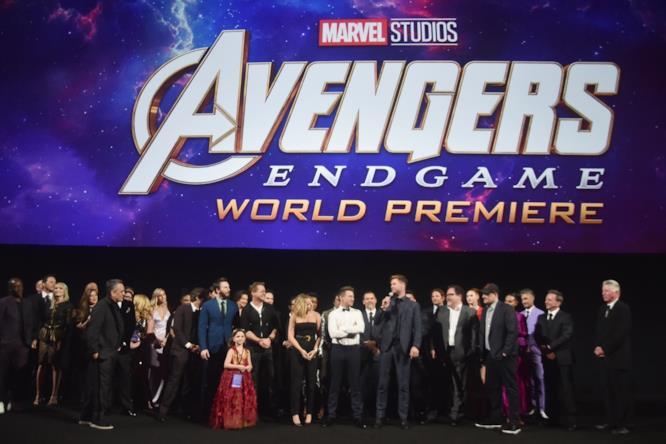 Una foto della prima di Avengers: Endgame