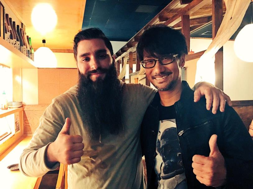 Vogt-Roberts e Kojima in una foto postata dal game designer sui social