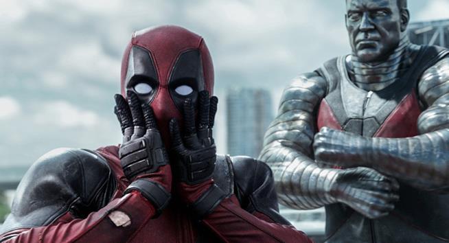 Deadpool in scena in uno dei film Marvel