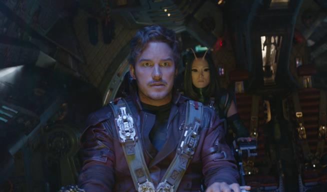 Star-Lord a bordo della Milano in Avengers: Infinity War