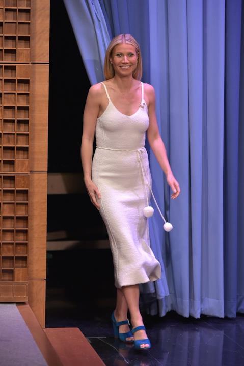 Gwyneth Paltrow veste Victoria Beckham da Jimmy Fallon