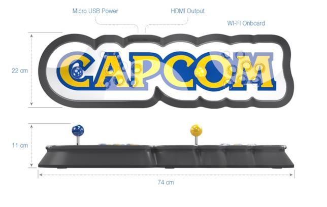 Le misure e la dotazione hardware di Capcom Home Arcade