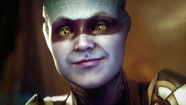 Primo piano per l'Asari di Mass Effect: Andromeda