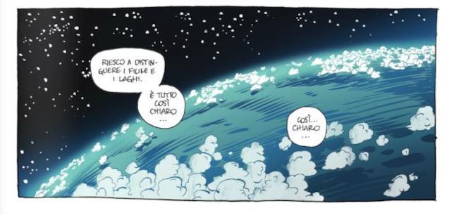 La terza vignetta di Da quassù la Terra è bellissima