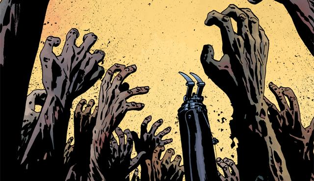 La copertina del fumetto numero 163 di The Walking Dead
