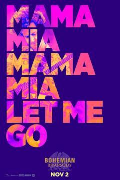 Mama mia Mama mia Let me go: le scritte nel teaser poster di Bohemian Rhapsody