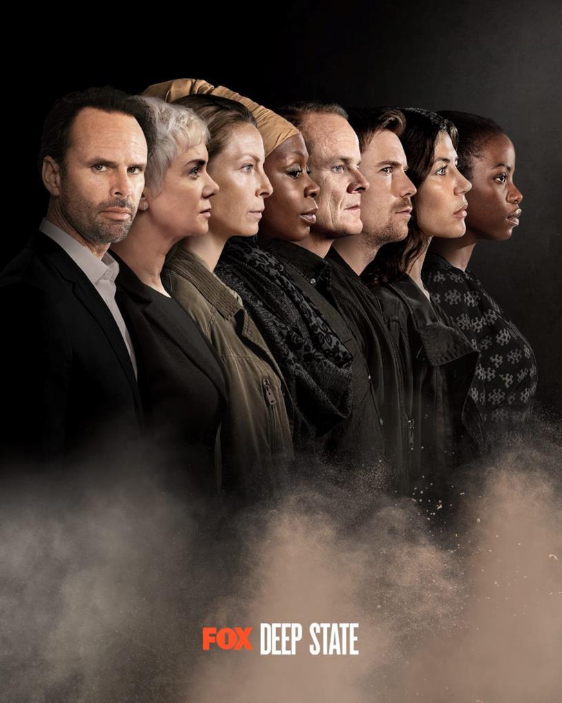 Tutti i protagonisti di Deep State 2 nella locandina della serie