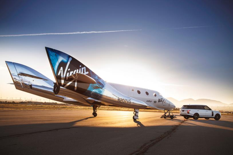 Il velivolo per i viaggi spaziali di Virgin Galactic