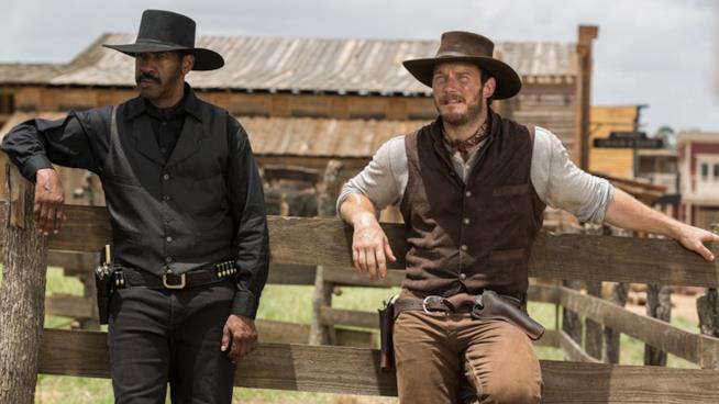 Denzel Washington e Chris Pratt  ne I Magnifici 7