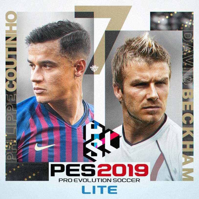 Immagine stampa di PES 2019 LITE con Coutinho e Beckham