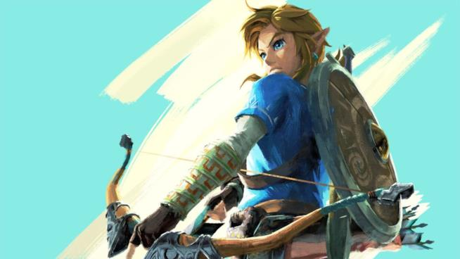 Un artwork di Link da The Legend of Zelda: Breath of the Wild