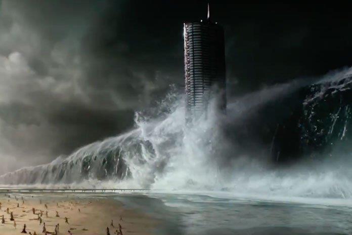Un'immagine del trailer di Geostorm
