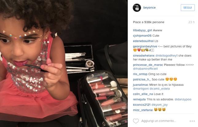 La figlia di Beyoncé Blue Ivy che si trucca su Instagram