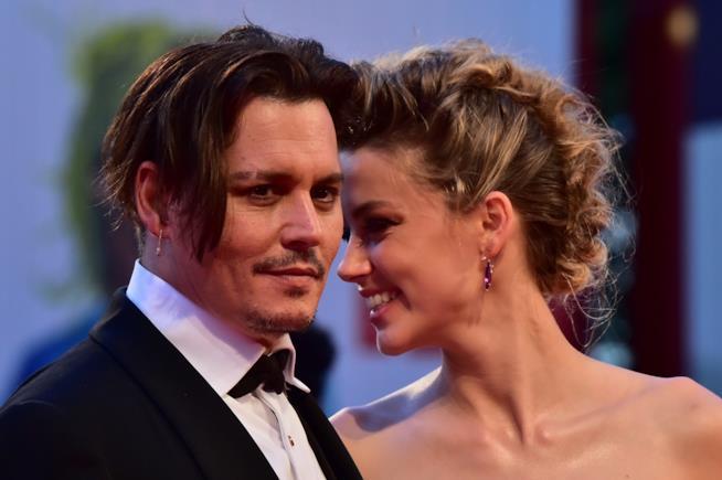 Johnny Depp e Amber Heard quando erano una coppia