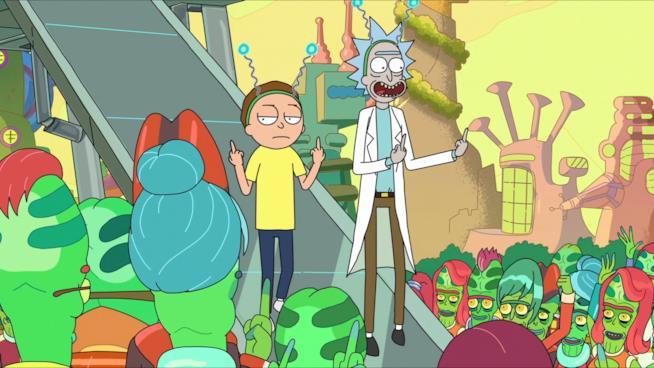 In vendita l'ombrello di Rick e Morty che fa dito medio a madre natura